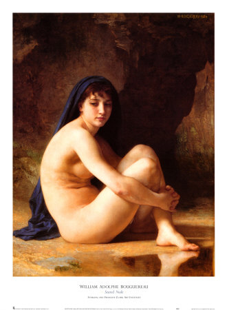 Seated Nude Print by William Adolphe Bouguereau at AllPosters.