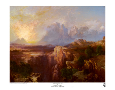 Rock Towers of the Rio Virgin Prints by Thomas Moran