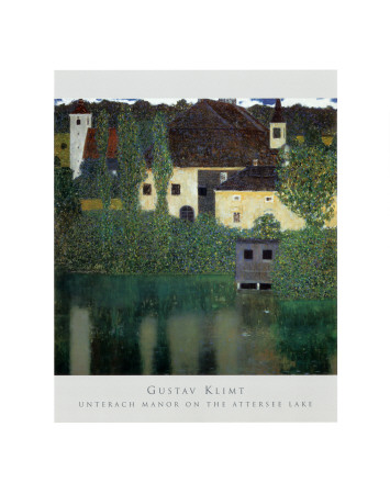 Unterach Manor on the Attersee Lake, Austria Art Print