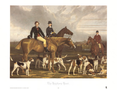 The Hevthorp Hunt Art by Stephen Pearce