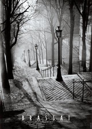 モンマルトルの階段, パリ 高品質プリント : ブラッサイ