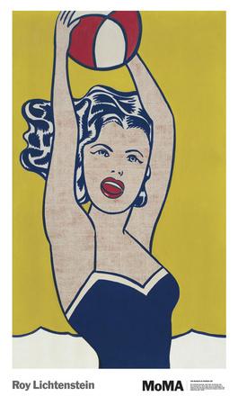 Ragazza con palla Poster di Roy Lichtenstein