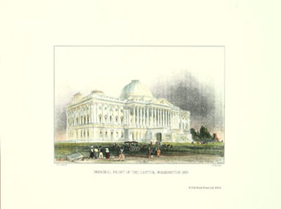 Washington D.C., Capital Front, 1839 Print by William Henry ...