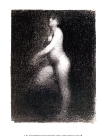 Nude, 1881-2 Prints by Georges Seurat