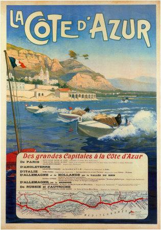 La Cote d'Azur Print