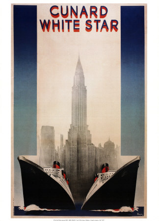 Cunard Posters by A. Roquin
