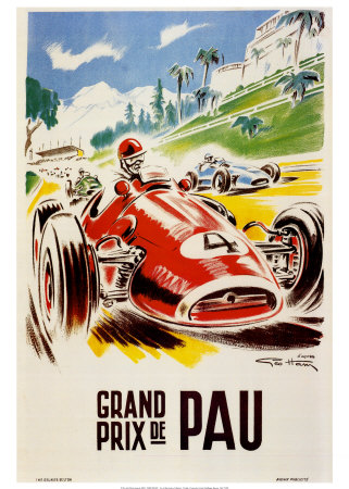 Grand Prix De Pau Posters av Geo Ham