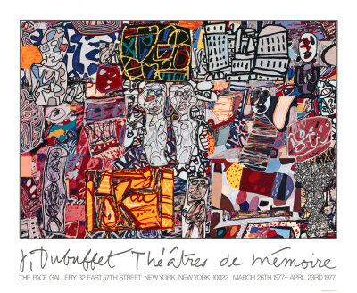Erindringens teater, 1977  Serigrafi (silketryk) af Jean Dubuffet