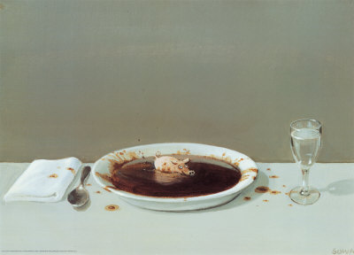 Pig in Soup Prints by Michael Sowa