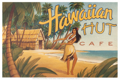 Hawaiian Hut Cafe Art Print