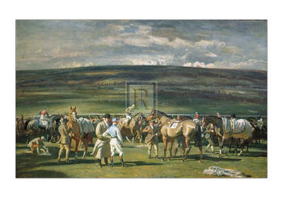 In the Saddling Paddock, March Meet Posters by Alfred James Munnings