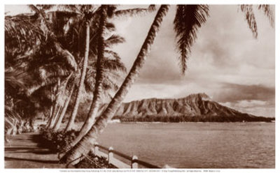 Diamond Head, Waikiki, Hawaii Art Print