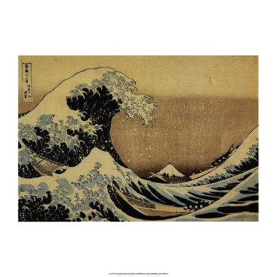 """La gran ola de Kanagawa, de la series """"36 vistas del monte Fuji"""", c.1829 Láminas por Katsushika Hokusai"""