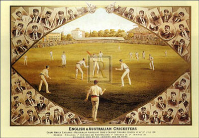 English and Australian Cricketers Prints by I. Weedon