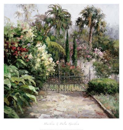 Palm Garden Art by  Haibin