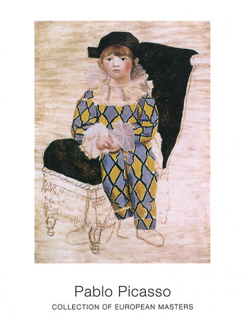 paul as harlequin  c 1924 art print