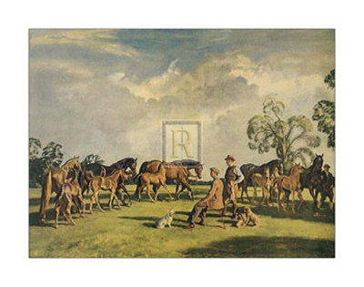 Summer Evening, Cliveden Prints by Alfred James Munnings