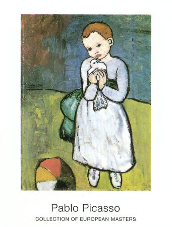 Kind Mit Taube, 1901 Prints by Pablo Picasso at AllPosters.