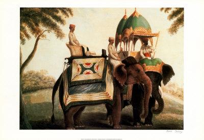 Indian Elephants II Prints by  Indian School