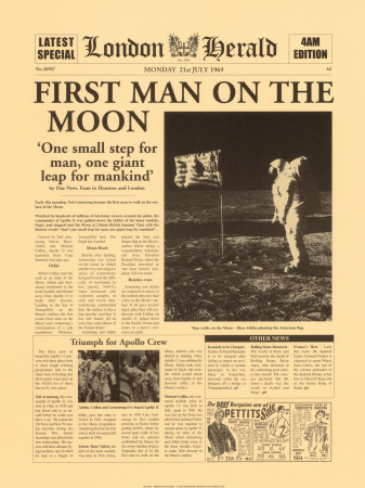 Fist man to walk on the moon