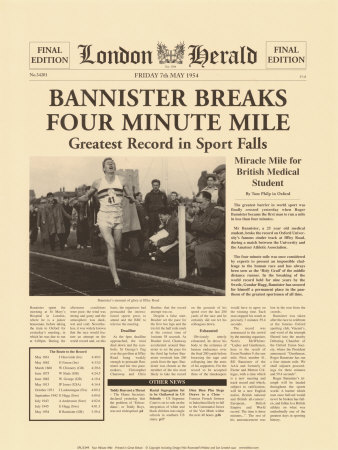 Four Minute Mile Posters af  The Vintage Collection