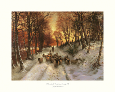 Through the Calm and Frosty Air Print by Joseph Farquharson