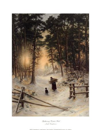 Gathering Winter Fuel Prints by Joseph Farquharson