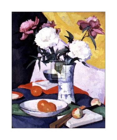 Peonías y fruta Pósters por Samuel John Peploe