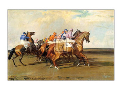 Under Starter's Orders Art by Alfred James Munnings
