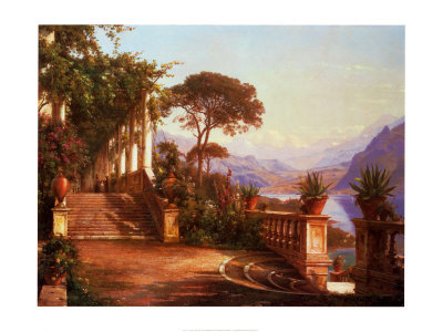 Lodge on Lake Como Art Print