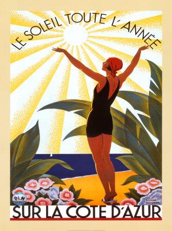 Sur la Cote d'Azur Prints by Roger Broders