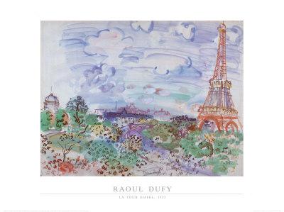 La Tour Eiffel, 1935 Art by Raoul Dufy