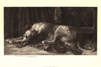 Irish Wolfhound Poster by Herbert Thomas Dicksee