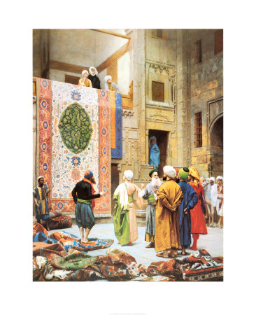 The Carpet Market Art Print