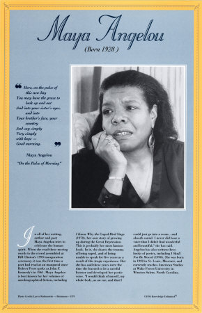 American Authors of the 20th Century - Maya Angelou Posters