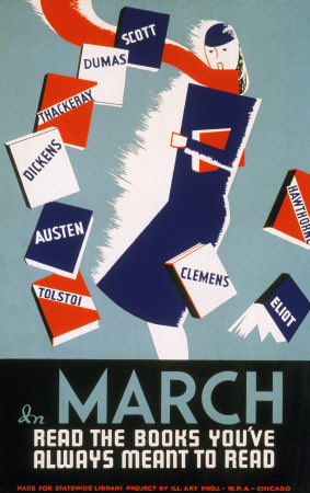 Historic Reading Posters - In March Read the Books Prints