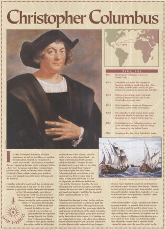 the great explorer christopher columbus Christopher columbus was a famous explorer who is often mistakenly credited for  columbus started living in portugal in 1476, which was europe's greatest.
