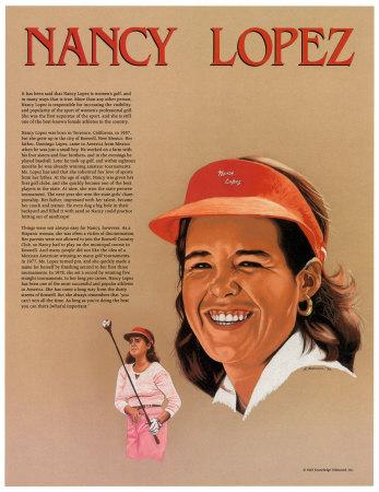 Hispanic Heritage - Nancy Lopez Plakat