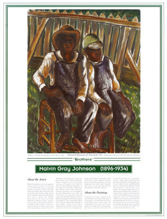 African American Artists - Malvin G. Johnson - Brothers Art Print