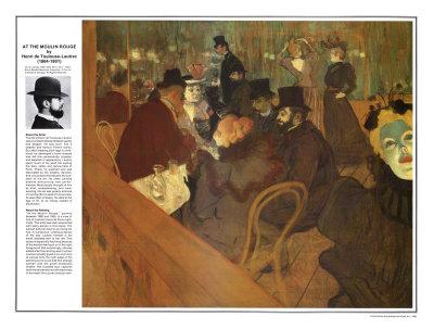 Masterworks of Art - Henri de Toulouse-Lautrec Láminas por Henri de Toulouse-Lautrec
