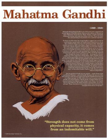 Heroes of the 20th Century - Mahatma Gandhi Prints