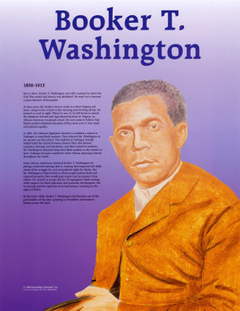Great Black Americans - Booker T. Washington Print
