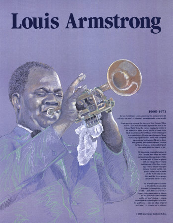 Great Black Americans - Louis Armstrong Prints