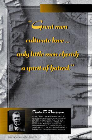 Inspirational Quotations - Booker T. Washington Prints