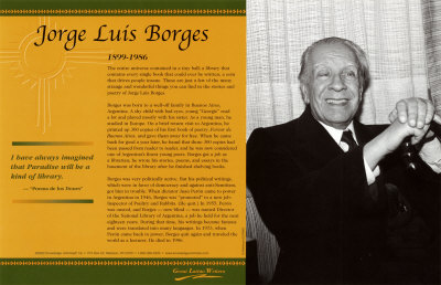 Latino Writers - Jorge Luis Borges Art Print