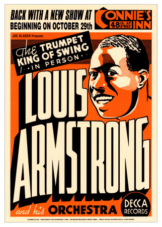 Louis Armstrong at Connie's Inn, New York City, 1935 Poster af Dennis Loren