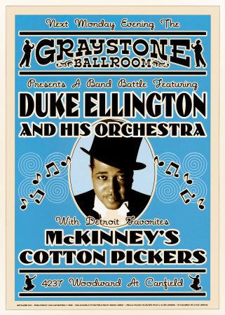 Duke Ellington and His Orchestra at the Graystone Ballroom, New York City, 1933 Print by Dennis Loren