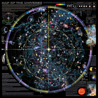 Carte de l'Univers - ©Spaceshots Reproduction d'art