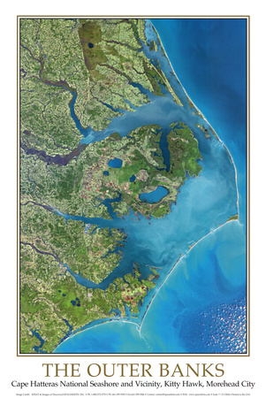 Outer Banks, NC from Space   - ©Spaceshots Posters