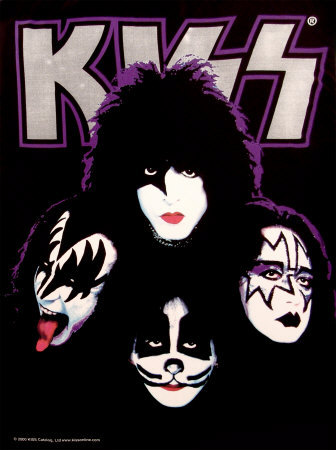 KISS Four Faces Poster at